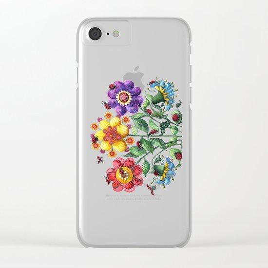 Ladybug Playground Clear iPhone Case