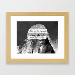 You Are the Wave, I'm the Naked Island III Framed Art Print