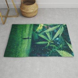 Cannabis Forest Rug