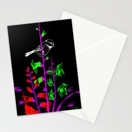 Mid-Night Garden bird Stationery Cards