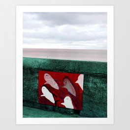 red sharks Art Print