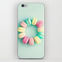 Macarons, macaroons circle, pop art iPhone Skin