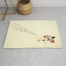 Samurai Farting On A Cat - Funny - Japanese - Samurai Rug