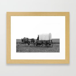 On the Wagon Framed Art Print