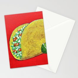 Taco 'Bout Awesome by Mike Kraus - art foodies Mexican Mexico Tuesday munchies eating meals lunch Stationery Cards