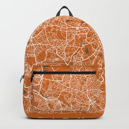 BIRMINGHAM Map - England   Orange + Colors, Review My Collections Backpack