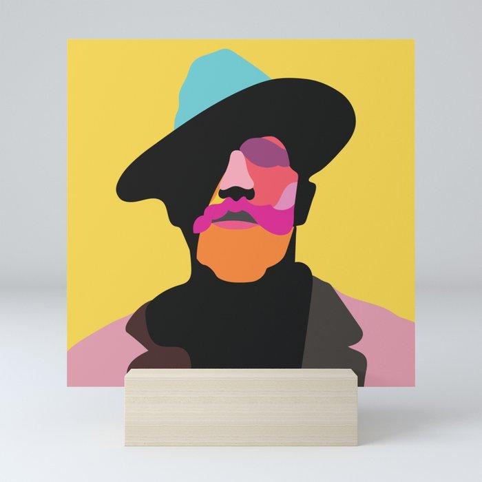 Man in Hat Mini Art Print