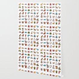 CUTE ANIMAL KINGDOM PATTERN Wallpaper