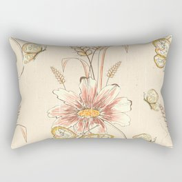 Retro Autumn Harvest Bouquet Rectangular Pillow