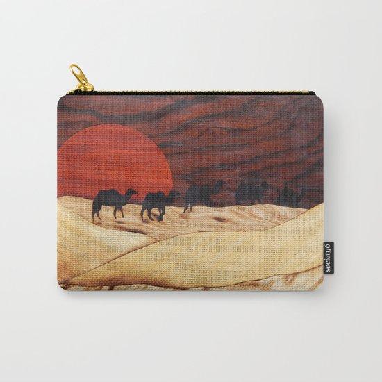 Desert landscape marquetry art Carry-All Pouch