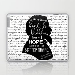 Into a Better Shape - Dickens (B&W Large) Laptop & iPad Skin