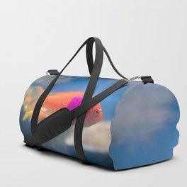 Color Block Fish Duffle Bag