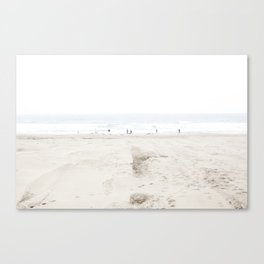 Ocean Beach in White 2 Canvas Print