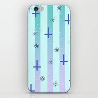 pastel goth iPhone & iPod Skins featuring Pastel Goth Pattern by HaruShadows