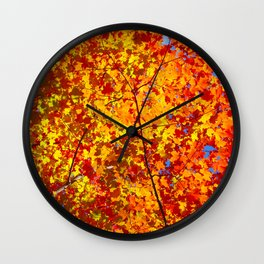 Blazing Fall Canopy Wall Clock
