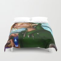 hyrule Duvet Covers featuring HYRULE CORP. by zero-scarecrow13