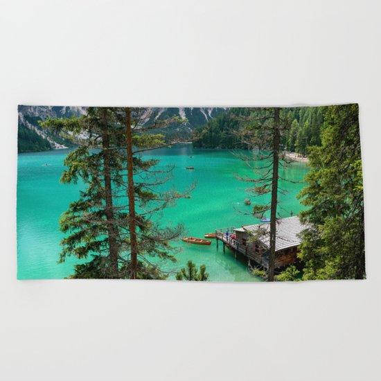 Pragser Wildsee Beach Towel