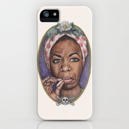 Watercolor Painting of Nina Simone iPhone Case
