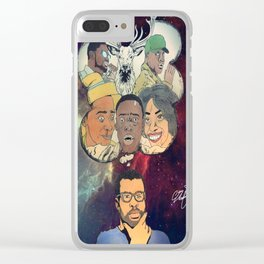 the thinking man Clear iPhone Case