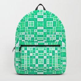 Seafoam Mint Green Pixel Pattern Backpack