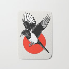 Red Sunset Magpie Bath Mat