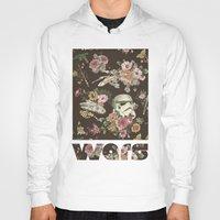 floral Hoodies featuring Botanic Wars by Josh Ln