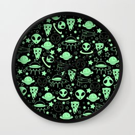 Pizza and the Galaxy Wall Clock