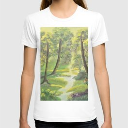 Happy forest with animals T-shirt