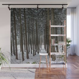 Forest in a Raw Winter Wall Mural