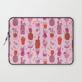 Tropical cocktails summer drinks pineapple tiki bar pattern by andrea lauren Laptop Sleeve