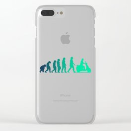 Scooter Evolution Moped And Scooter Gifts Clear iPhone Case
