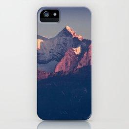 Three Peaks in Violet Sunset iPhone Case