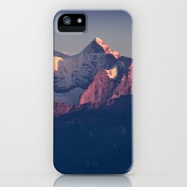 Three Peaks in Violet Sunset iPhone Case