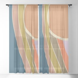 Pastel Sunrise Sheer Curtain