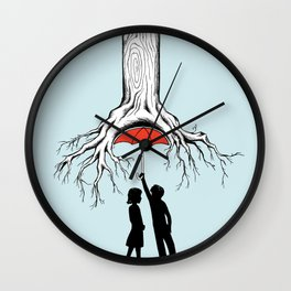 Raining Roots Wall Clock