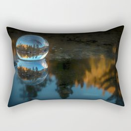 Refraction and Reflection Meet  Castle Lake reflections on the water Rectangular Pillow