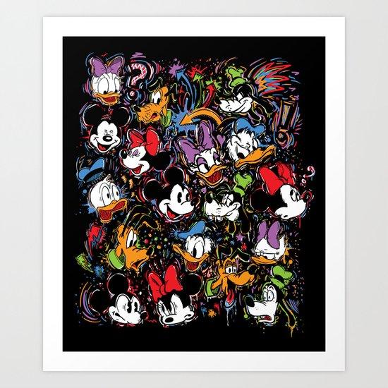 Emotion Explosion Art Print