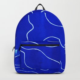 Topography in Blue Backpack