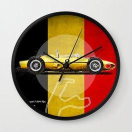 Spa Racetrack Vintage Wall Clock