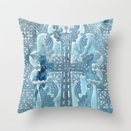 Celtic Blue - JUSTART © Throw Pillow