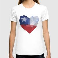 chile T-shirts featuring Chile Heart by Favio Torres