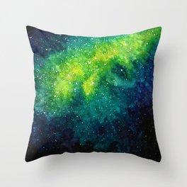Slimer Nebula Throw Pillow