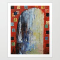 moby dick Art Prints featuring Moby Dick by Michael Creese