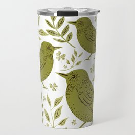 Little Wrens Hiding In The Hedgerow Travel Mug