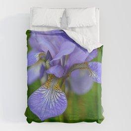 Siberian Iris by Teresa Thompson Duvet Cover