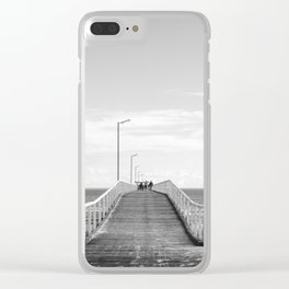Largs Pier Clear iPhone Case