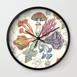 Mushroom Color Wheel Wall Clock