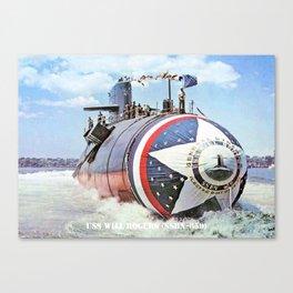 USS WILL ROGERS (SSBN-659) Canvas Print