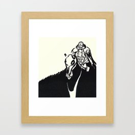 Skull Knight Framed Art Print