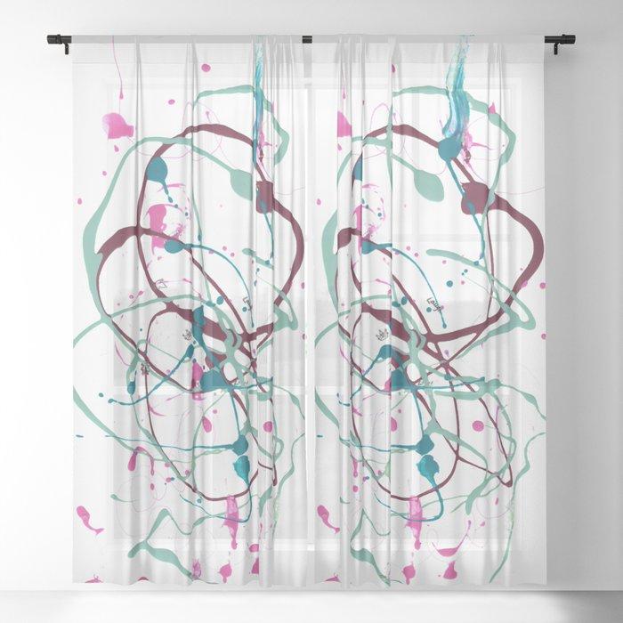 Mindfulness Nail Polish Sheer Curtain